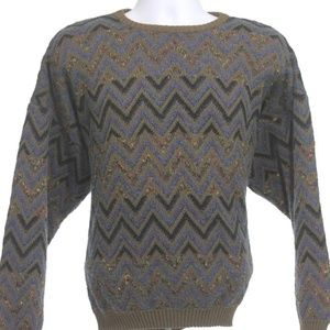 Vintage Pronto Uomo Sweater Vaporwave Retro Sz XL